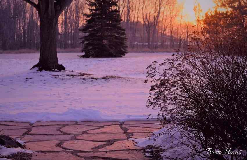 sunrise on winter morning