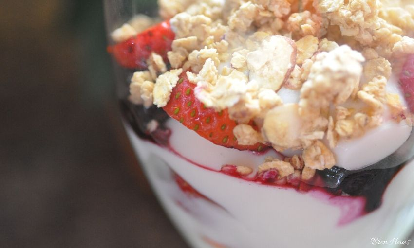 Garden Berries and Homemade Granola Recipe