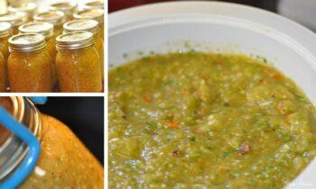 Tomatillo Salsa Canning
