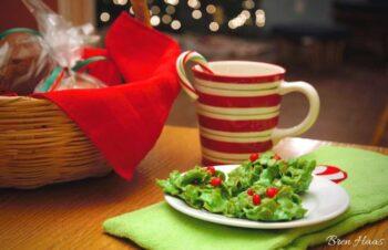 holly leaf for santa