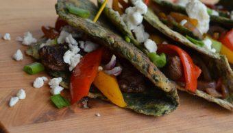 Spinach Wraps (Fajita Recipe) Garden Fresh