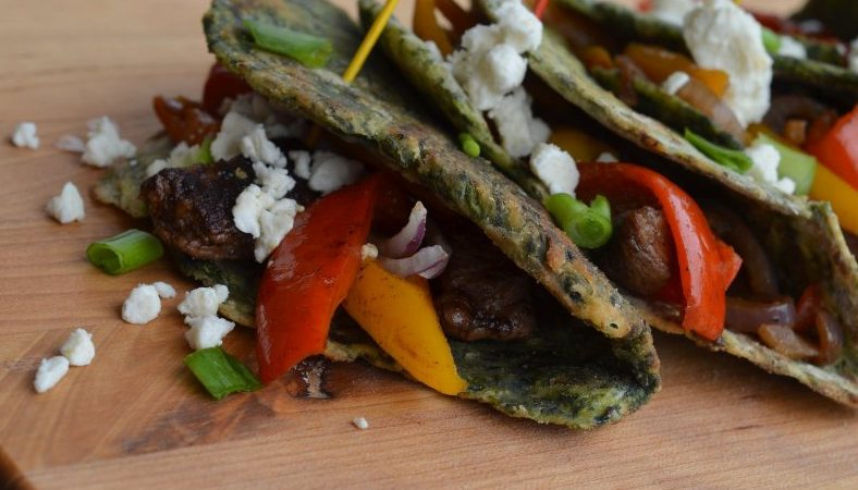 Spinach Wraps (Fajita Recipe) Garden Fresh