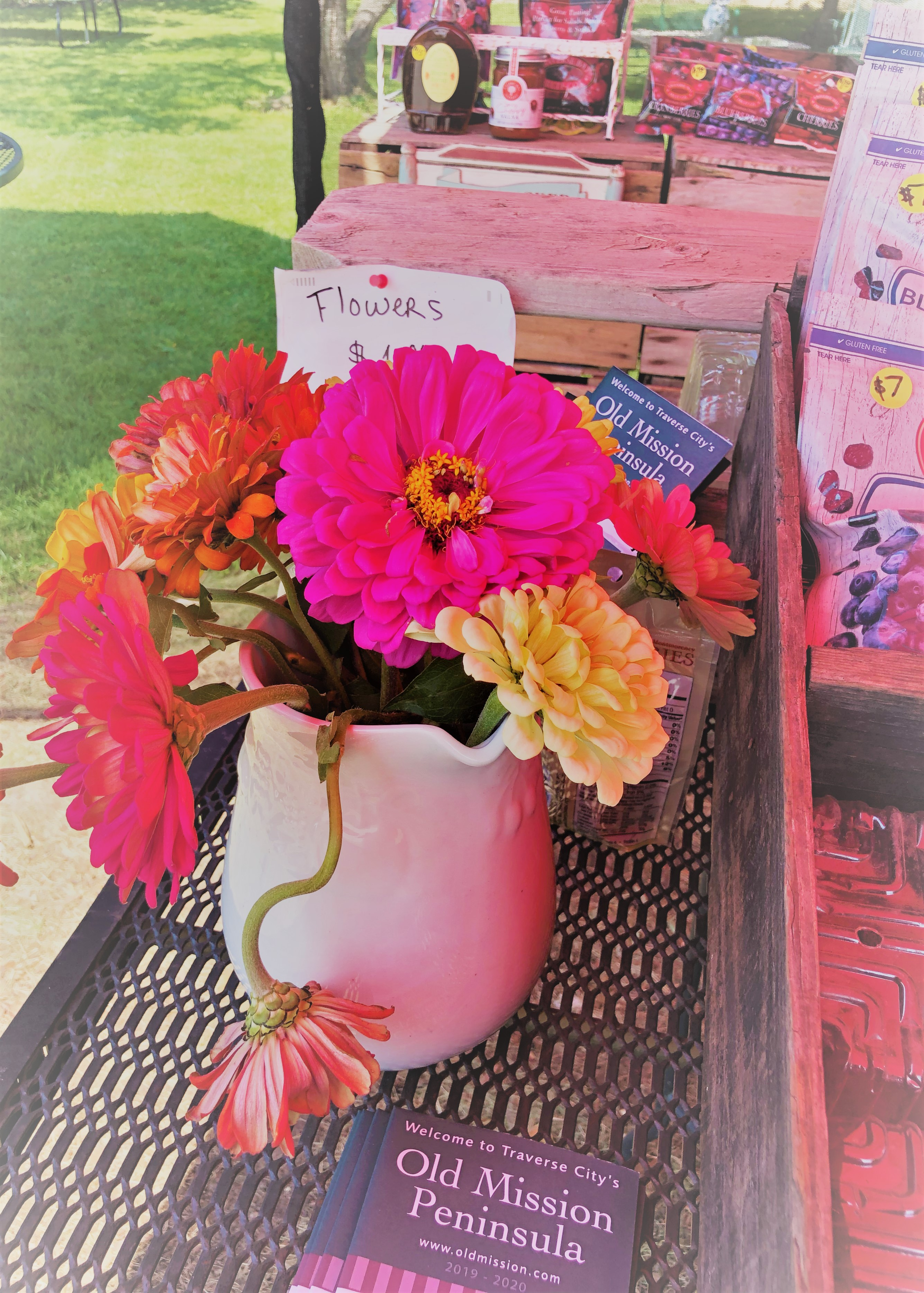 Zinnia Bouquet From Michigan Farmers Stand