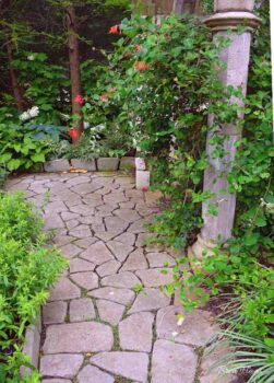 hardscaping at gardens
