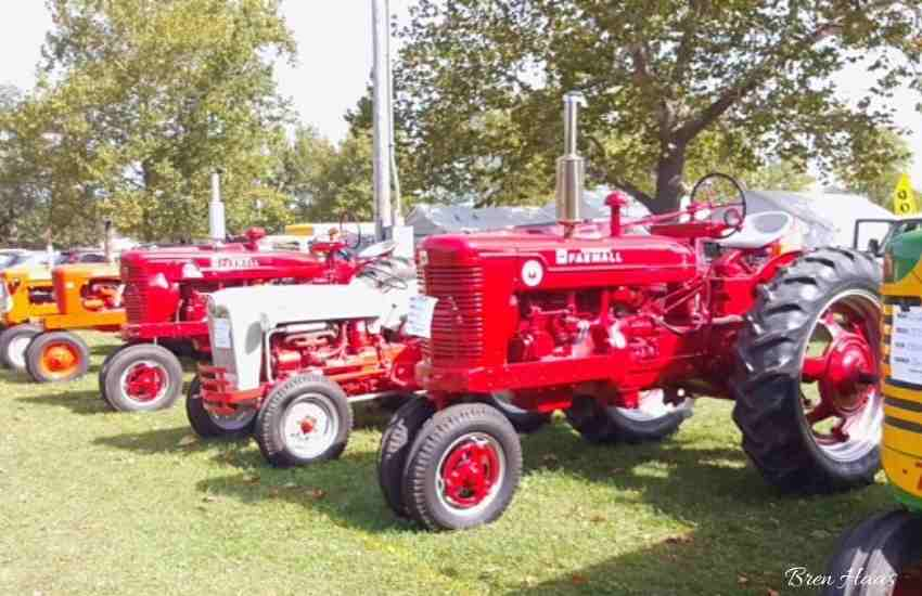 tractors at the Festival