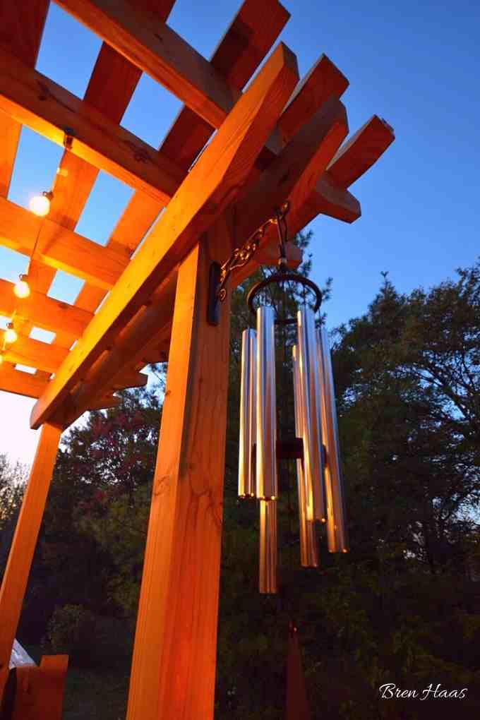 wind chimes on back deck