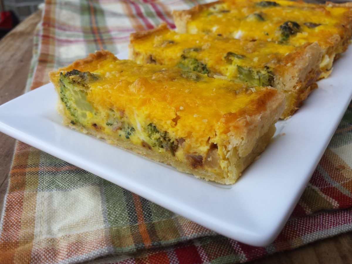 Broccoli Cheddar Tart