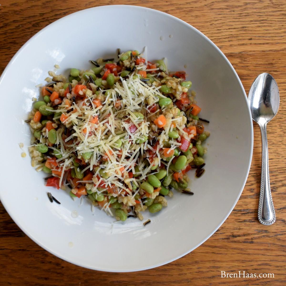 Sweet Ancient Grain and Edamame Salad
