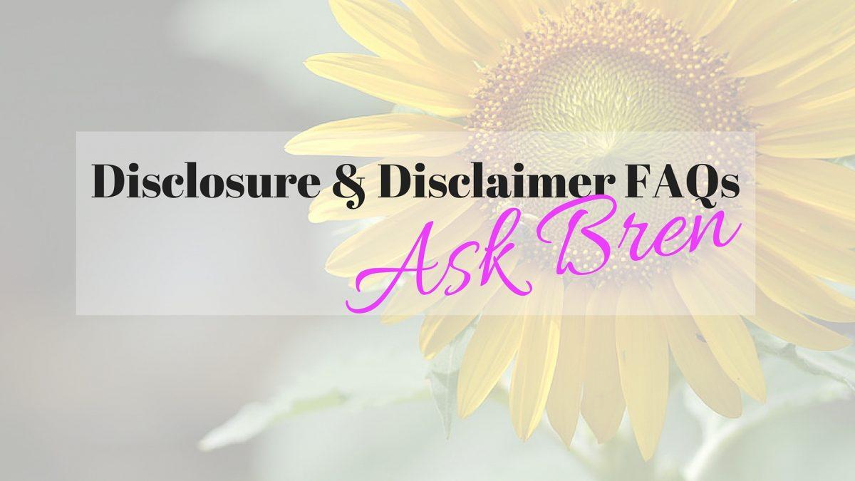 Disclosure & Disclaimer FAQs