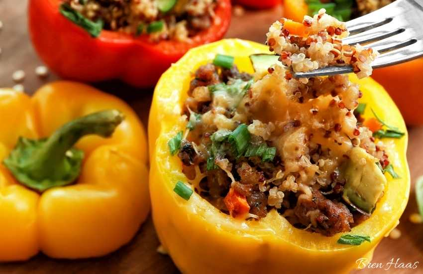 bell peppers and ancient grains