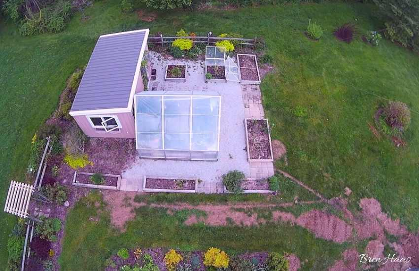 Greenhouse View From Drone