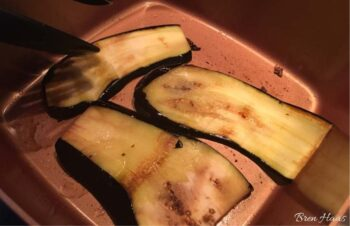 sliced and grilled eggplant