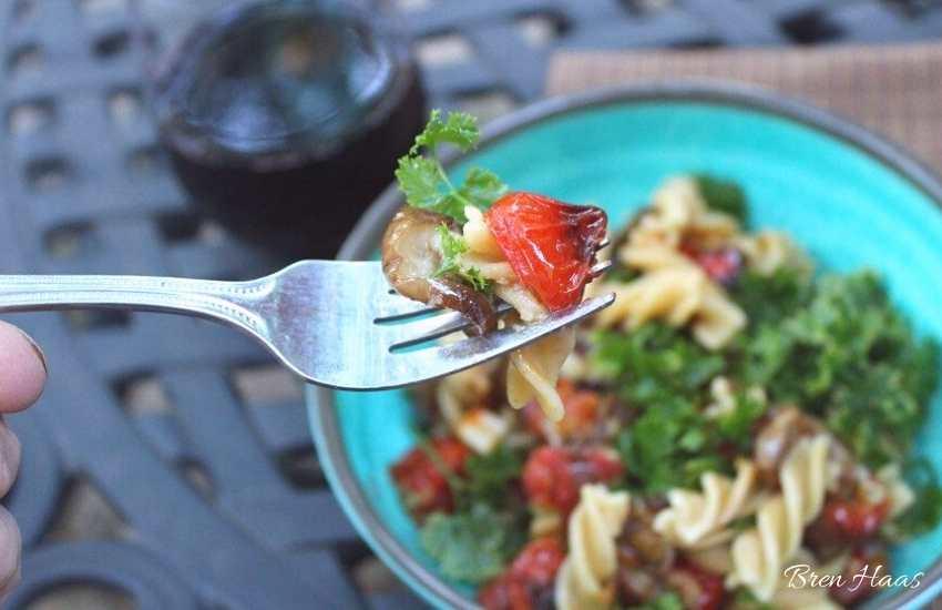 Organic Chickpea Fusilli Pasta | Eggplant, Tomatoes Parsley Recipe