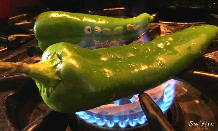 Easy to Roast Anaheim Peppers