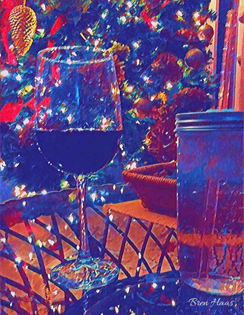 holiday wine art | healthy during the holiday season