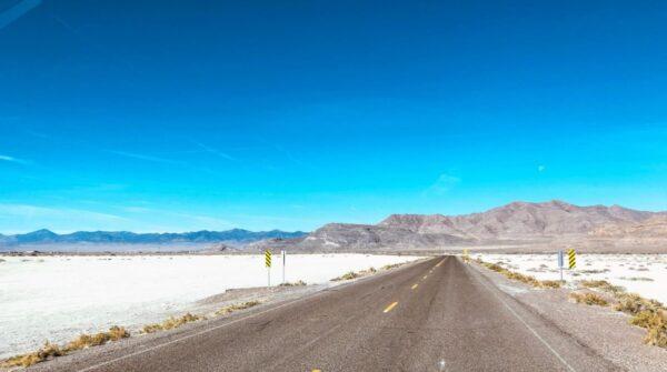 Morning at the Bonneville Salt Flats