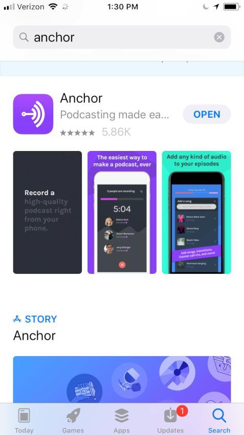 anchor app on iphone
