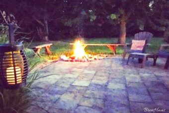 firepit at night