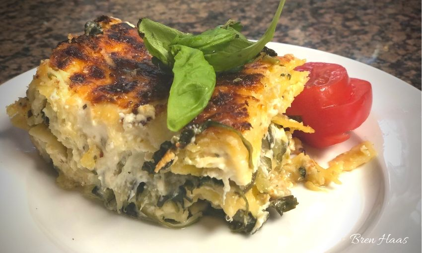 zucchini and spinach lasagna