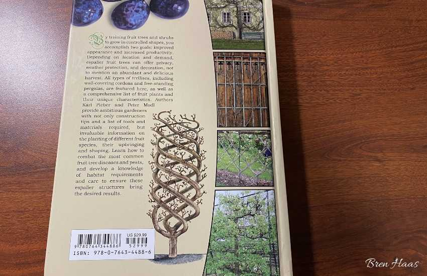 back cover of the espalier book