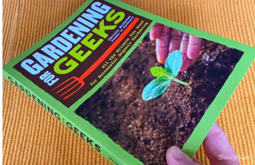 gardening book book on table