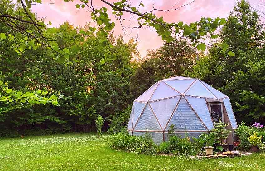 dome in the meadow in summer