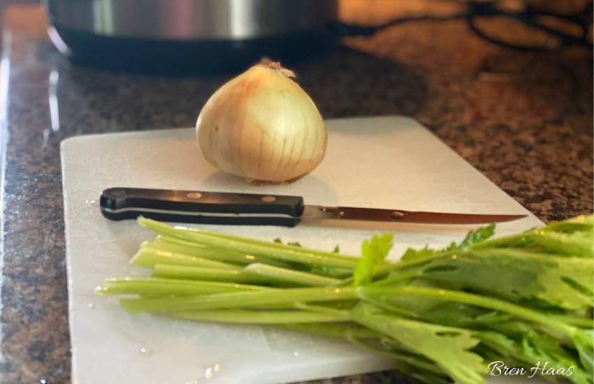 Onions and Fresh Celery
