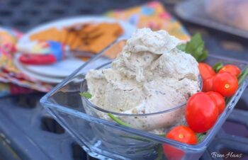 summer on the patio with cheese spread