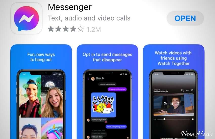 messenger in the app store