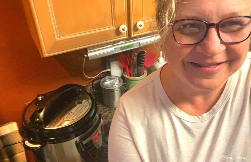 no filter.. bren haas in kitchen