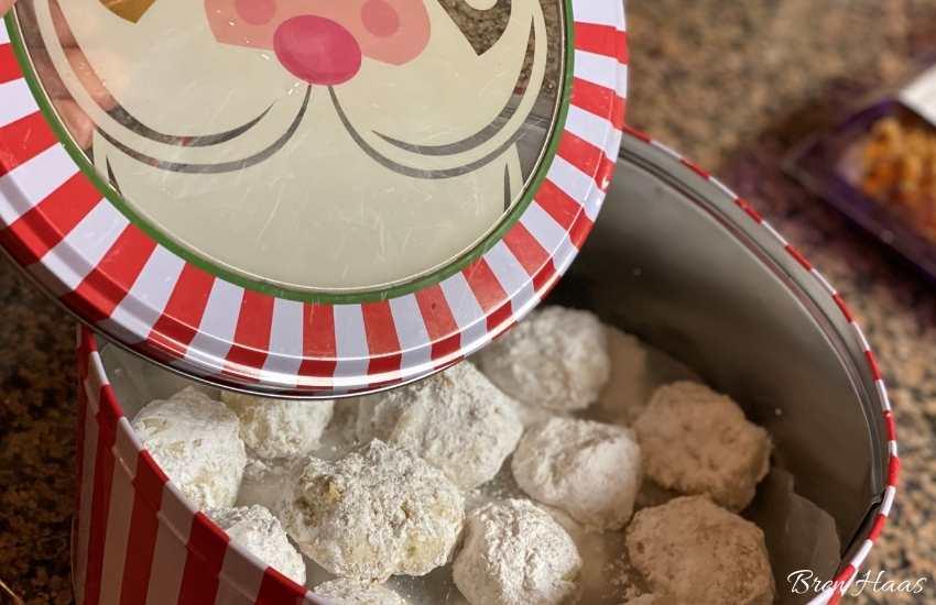 cookies in a tin
