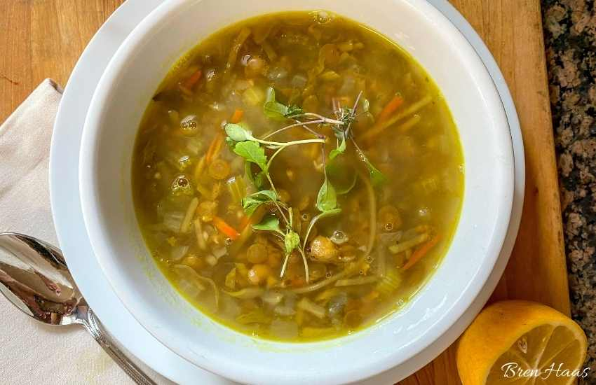 easy to make green lentil soup
