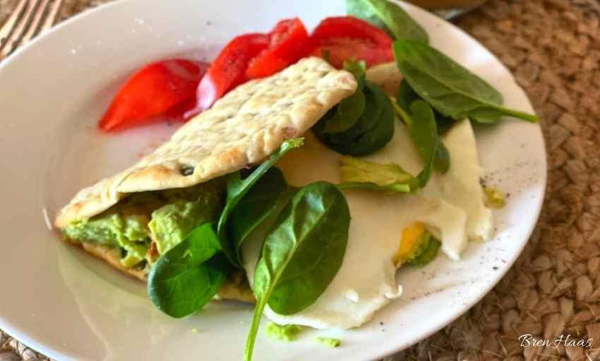 Spinach Avocado Egg Breakfast