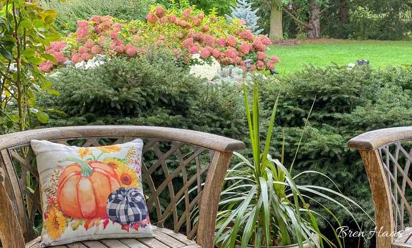 Pillow Case for Autumn Decorating Outdoors